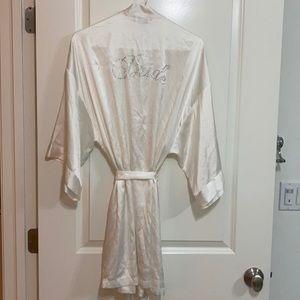 Victoria's Secret bride robe white small